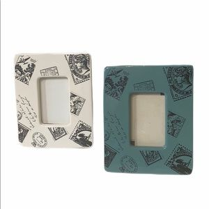 COPY - Pier One Frames Set Travel Theme Ceramic